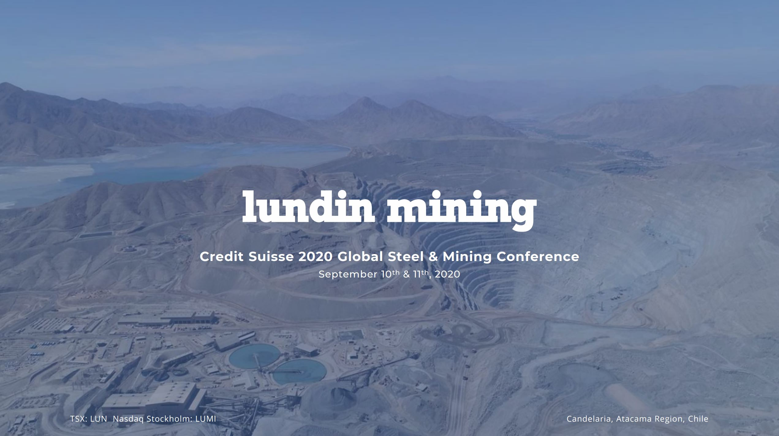 Credit Suisse 2020 Global Steel & Mining Conference
